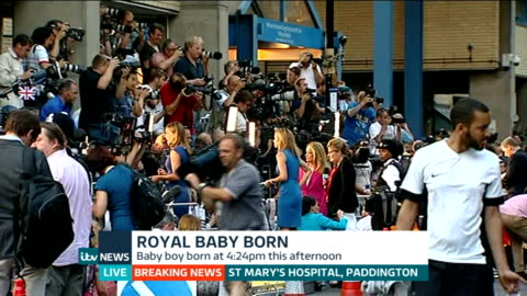 duchess of cambridge gives birth to boy: itv news special pab 20:30 - 21:56; england: london: gir: int mary nightingale studio introduction... - mary nightingale stock videos & royalty-free footage