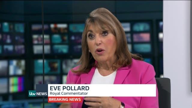 itv news special pab gir int eve pollard studio interview sot - メアリー ナイチンゲール点の映像素材/bロール