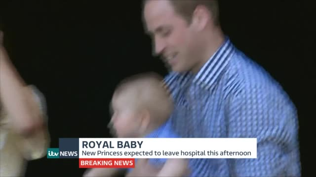 itv news special pab lib / tx australia sydney taronga zoo various shots of prince william kate and baby prince george visiting zoo - visit stock videos & royalty-free footage