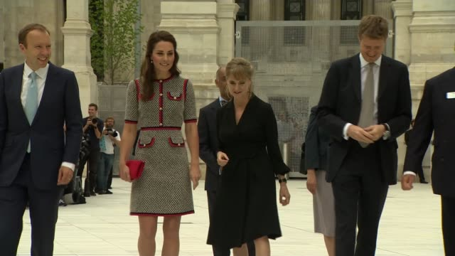 duchess of cambridge opens victoria and albert museum extension england london victoria and albert museum int catherine duchess of cambridge along... - victoria and albert museum london stock videos & royalty-free footage