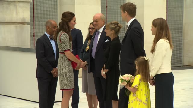 duchess of cambridge opens victoria and albert museum extension england london south kensington ext various shots of sackler courtyard / small girl... - courtyard stock videos & royalty-free footage