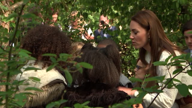 duchess of cambridge showing children around her back to nature garden at the chelsea flower show - botany stock videos & royalty-free footage