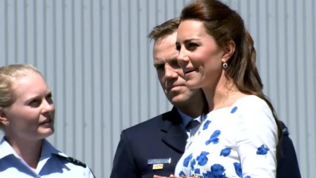 duchess of cambridge takes to controls of australian air force jet australia brisbane ext prince william sat in cockpit of australian air force jet... - visit stock videos & royalty-free footage