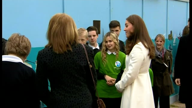 duchess of cambridge visit to portsmouth england hampshire portsmouth ext catherine duchess of cambridge with sir ben ainslie chatting with school... - 2015 stock videos & royalty-free footage
