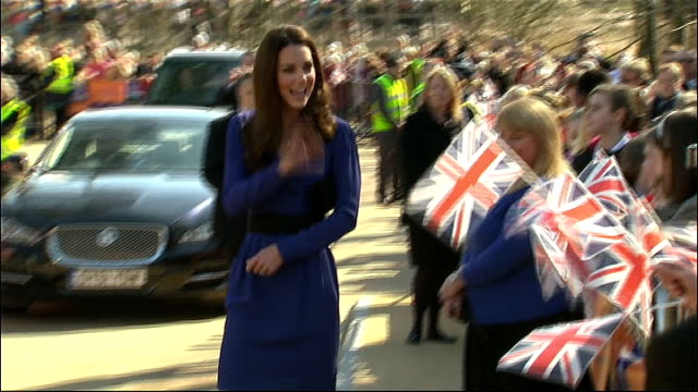 duchess of cambridge visit to the east anglia children's hospice ; england: east anglia: ipswich: east anglia children's hospice : ext catherine,... - east anglia stock-videos und b-roll-filmmaterial