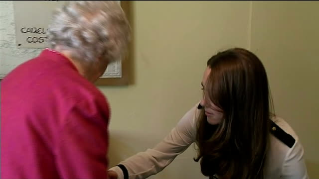 duchess of cambridge visits bletchley park england buckinghamshire bletchley park photography*** catherine duchess of cambridge along into room and... - blouse stock videos and b-roll footage