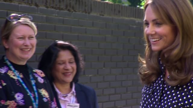 duchess of cambridge visits nurse partnership scheme at sunshine house england london southwark ext various shots of catherine duchess of cambridge... - cooperation stock videos & royalty-free footage
