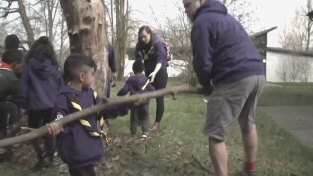 duchess of cambridge visits scouts hq to celebrate century of scouting uk london gilwell park catherine duchess of cambridge visiting scouts hq and... - duchess of cambridge stock videos and b-roll footage