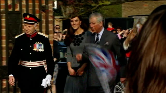 duchess of cambridge visits the olympic park; dulwich: dulwich picture gallery: kate, prince charles, prince of wales and camilla, duchess of... - dulwich stock videos & royalty-free footage