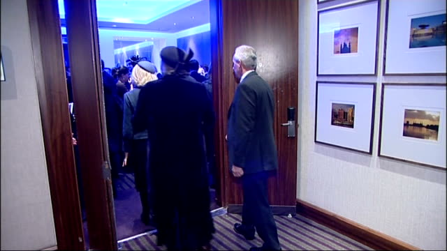 duchess of cornwall attends service for journalists killed in conflicts camilla in reception room meeting journalists and others bill neely at... - reuters stock videos & royalty-free footage