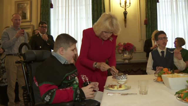 duchess of cornwall decorates clarence house for christmas with roald dahl charity england london clarence house photography *** various shots of... - christmas gift stock videos & royalty-free footage