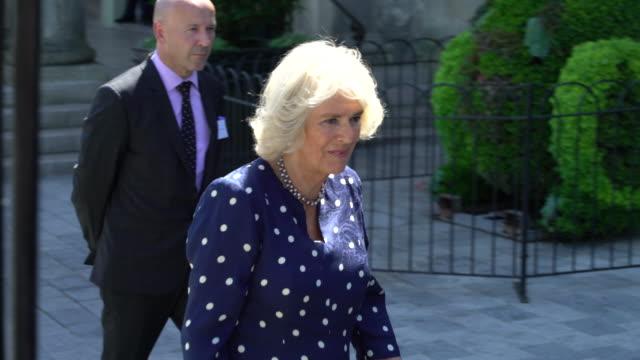 duchess of cornwall on june 22 2018 in salisbury england - コーンウォール公爵夫人 カミラ点の映像素材/bロール