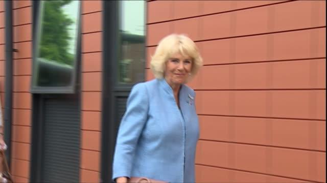 duchess of cornwall opens sexual assault referral centre in bristol england bristol ext camilla duchess of cornwall departs - 性的虐待点の映像素材/bロール