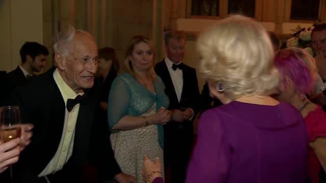 duchess of cornwall presents man booker prize for fiction camilla and beatty / camilla mingling with other guests at reception including graeme... - man booker prize stock videos & royalty-free footage