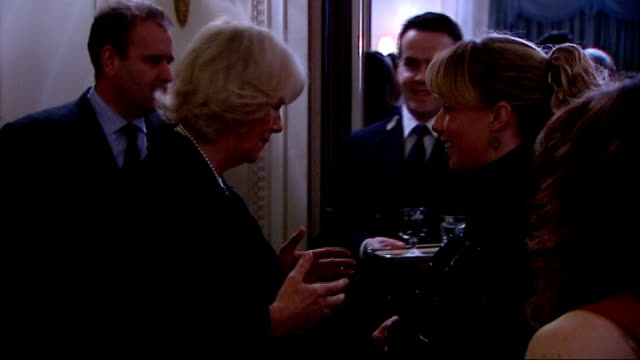 stockvideo's en b-roll-footage met duchess of cornwall reception for equestrian teams from london 2012 olympics and paralympics reception gvs england london clarence house photography... - teamevenement