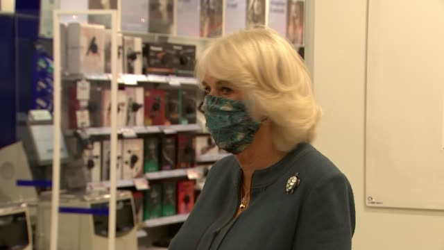 duchess of cornwall supports boots' campaign against domestic violence england london boots camilla duchess of cornwall wearing mask and along... - domestic staff stock videos & royalty-free footage