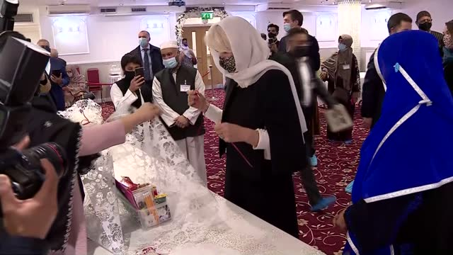 duchess of cornwall visits london islamic cultural society; england: london: london islamic cultural society: int close shot of braille quran /... - braille stock videos & royalty-free footage