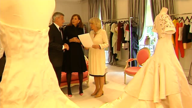 day 2 Press photographers taking photographs of Camilla including The Sun photographer Arthur Edwards Arthur Edwards interview SOT Various of Duchess...
