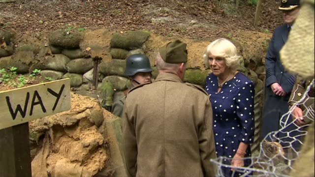 Duchess of Cornwall visits RAF Halton ENGLAND Buckinghamshire Aylesbury RAF Halton Camilla shown around and chatting to military personnel some in...
