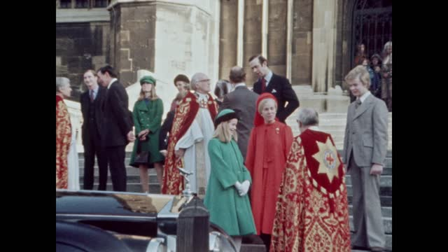 duchess of kent loses baby; date unknown england: berkshire: windsor: windsor castle: ext katharine, duchess of kent, prince edward, duke of kent and... - baby stock videos & royalty-free footage