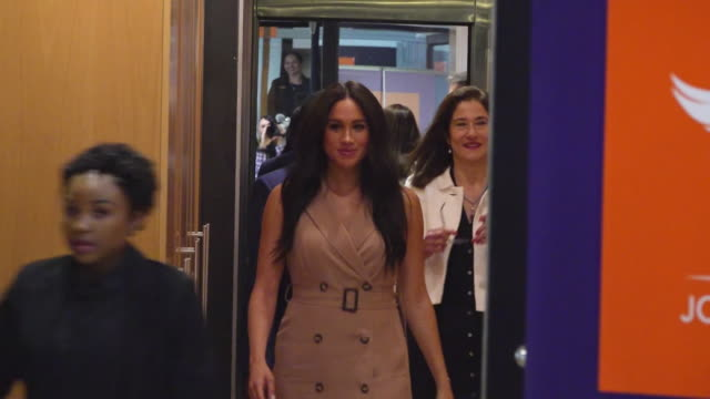 duchess of sussex arrives at university of johannesburg during the royal tour of africa - prince harry stock videos & royalty-free footage