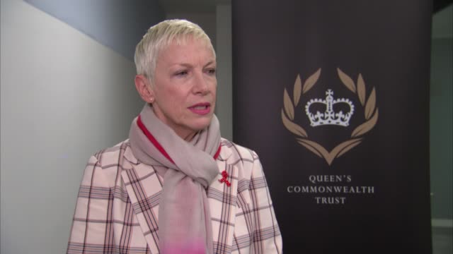 duchess of sussex joins panel discussion to mark international women's day; england: london: int annie lennox interview sot king's college london:... - panel discussion stock videos & royalty-free footage