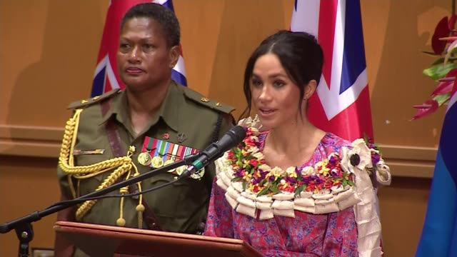duchess of sussex market trip cut short due to security concerns fiji suva meghan duchess of sussex speech at university of the south pacific / alisi... - fiji stock videos & royalty-free footage