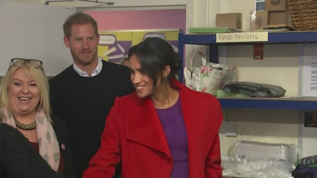duchess of sussex suggests royal baby will be due in late april or early may uk merseyside birkenhead duke and duchess of sussex visit tomorrow's... - meghan duchess of sussex stock videos and b-roll footage