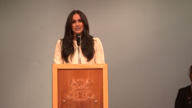 duchess of sussex visits dagenham school to mark international women's day; england: essex: dagenham: robert clack school of science: meghan, duchess... - speech stock videos & royalty-free footage