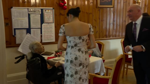 duchess of sussex visits royal variety care home in last official engagement before christmas uk london twickenham brinsworth house meghan duchess of... - christmas paper stock videos and b-roll footage