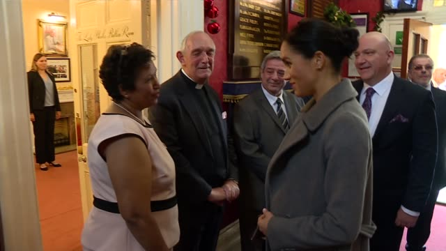 duchess of sussex visits royal variety care home in twickenham uk london twickenham brinsworth house meghan duchess of sussex visiting brinsworth... - anglican stock videos and b-roll footage