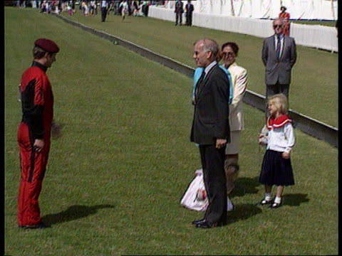 duchess of york attends gulf charity polo match prince charles plays england berks royal berks polo club ms sarah duchess of york along with princess... - polo shirt stock videos & royalty-free footage