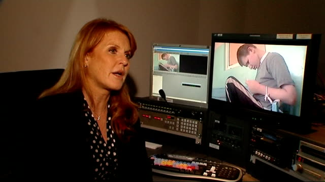 duchess of york interview on documentary exposing poor treatment of children in turkish orphanages on worrying that she won't be allowed into other... - rspca stock-videos und b-roll-filmmaterial