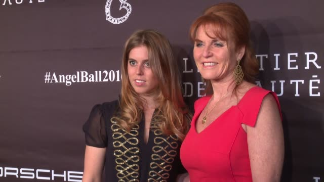 Duchess of York Sarah Ferguson Princess Beatrice of York at 2016 Angel Ball at Cipriani Wall Street on November 21 2016 in New York City