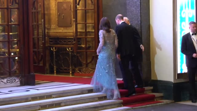 duchesses of cambridge duke of cambridge arrive at the royal variety performance 2017 at palladium theatre on november 24 2017 in london england - duchess of cambridge stock videos & royalty-free footage