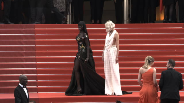 slomo duckie thot soo joo park at 'once upon a time in hollywood ' red carpet arrivals the 72nd cannes film festival at grand theatre lumiere on may... - grand theatre lumiere stock videos & royalty-free footage