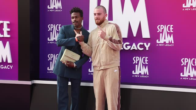"""duckwrth attends the premiere of warner bros """"space jam: a new legacy"""" at regal live on july 12, 2021 in los angeles, california. - space jam stock videos & royalty-free footage"""