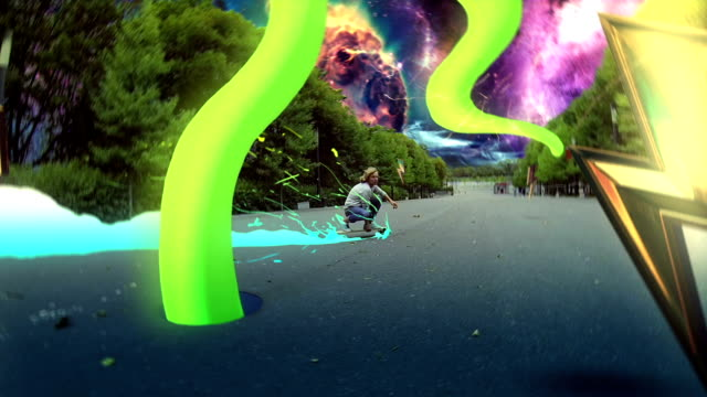 dude is riding on longboard - surreal stock videos & royalty-free footage