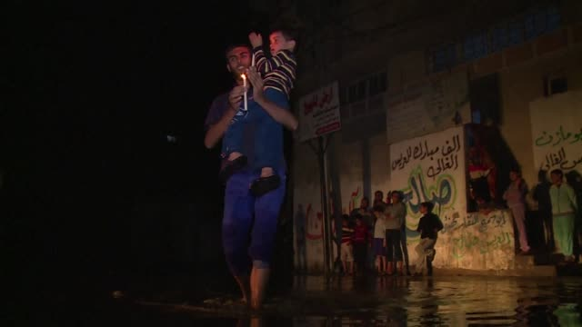 due to long periods of power shortage and a lack of fuel for the sewage pumping station in the alzaetun area in gaza city sewage is overflowing in... - overflowing stock videos & royalty-free footage