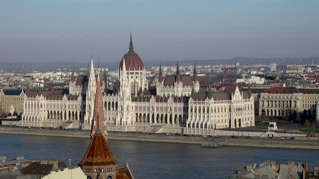 due to the pandemic and travel restrictions hungary's economy suffers as visitors disappeared from touristic highlights such as the buda castle.... - hungary stock videos & royalty-free footage