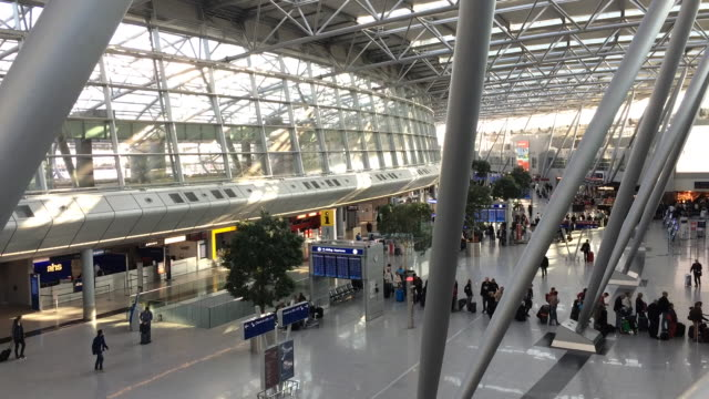 People waiting for fly at Duessseldorf International Airport Düsseldorf International Airport is after Frankfurt and Munich the third largest airport...