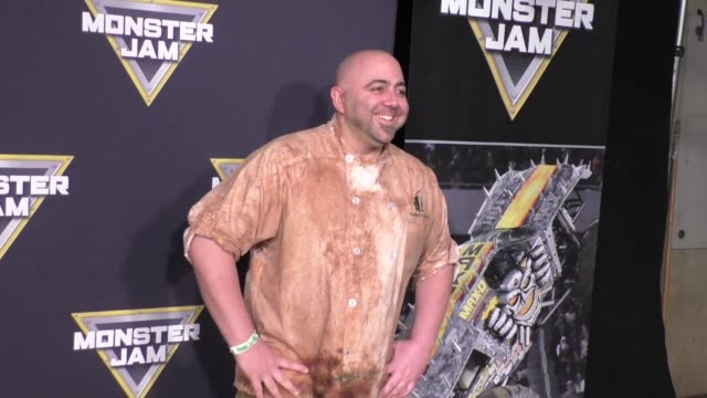 duff goldman at monster jam celebrity night at angel stadium of anaheim at celebrity sightings in los angeles on january 16, 2016 in los angeles,... - angel stadium stock videos & royalty-free footage