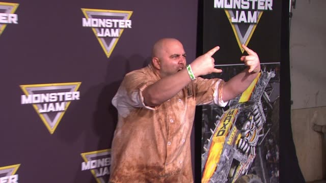 Duff Goldman at Monster Jam Celebrity Night at Angel Stadium of Anaheim on January 16 2016 in Anaheim California