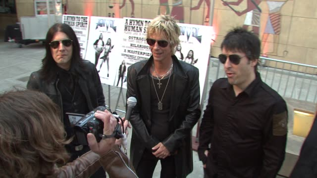 duff mckagan and his band 'loaded' at the 'anvil the story of anvil' premiere at los angeles ca - anvil the story of anvil stock videos and b-roll footage