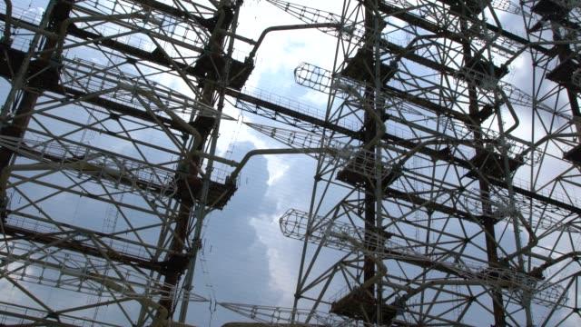 duga - the soviet over-the-horizon radar (oth) system near chernobyl, ukraine - former soviet union stock videos & royalty-free footage