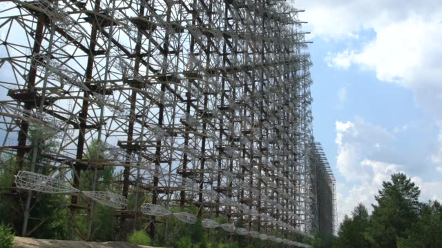 duga - the soviet over-the-horizon radar (oth) system near chernobyl, ukraine - nuclear missile stock videos & royalty-free footage