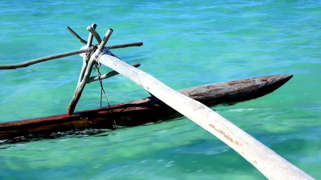 dugout canoe ride on isle of pines, new caledonia - polynesian culture stock videos & royalty-free footage