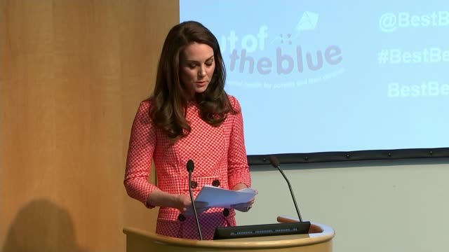 duke and duchess of cambridge announce third pregnancy lib / royal college of obstetricians and gynaecologists int catherine speech sot re being a... - kate middleton stock videos & royalty-free footage