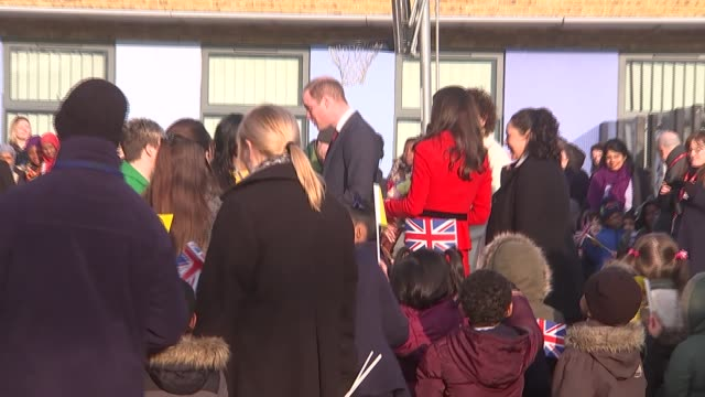 Duke and Duchess of Cambridge arive and depart Mitchell Brook Primary School in Neasden Duke and Duchess of Cambridge arive and depart Mitchell Brook...