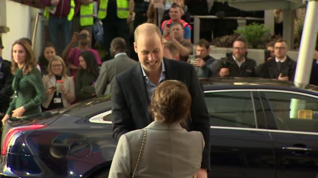 Duke and Duchess of Cambridge arriving at Evelina London's Chldren's hospital